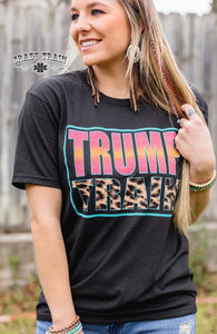 Crazy Train BLACK ** TRUMP TRAIN ** SERAPE Tee Unisex fit