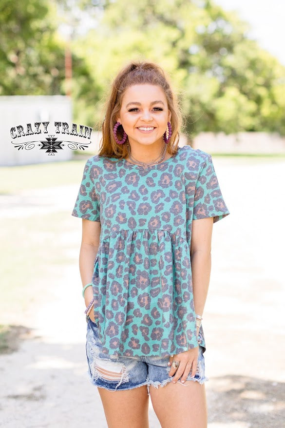 Crazy Train TURQUOISE TALLY ** LEOPARD