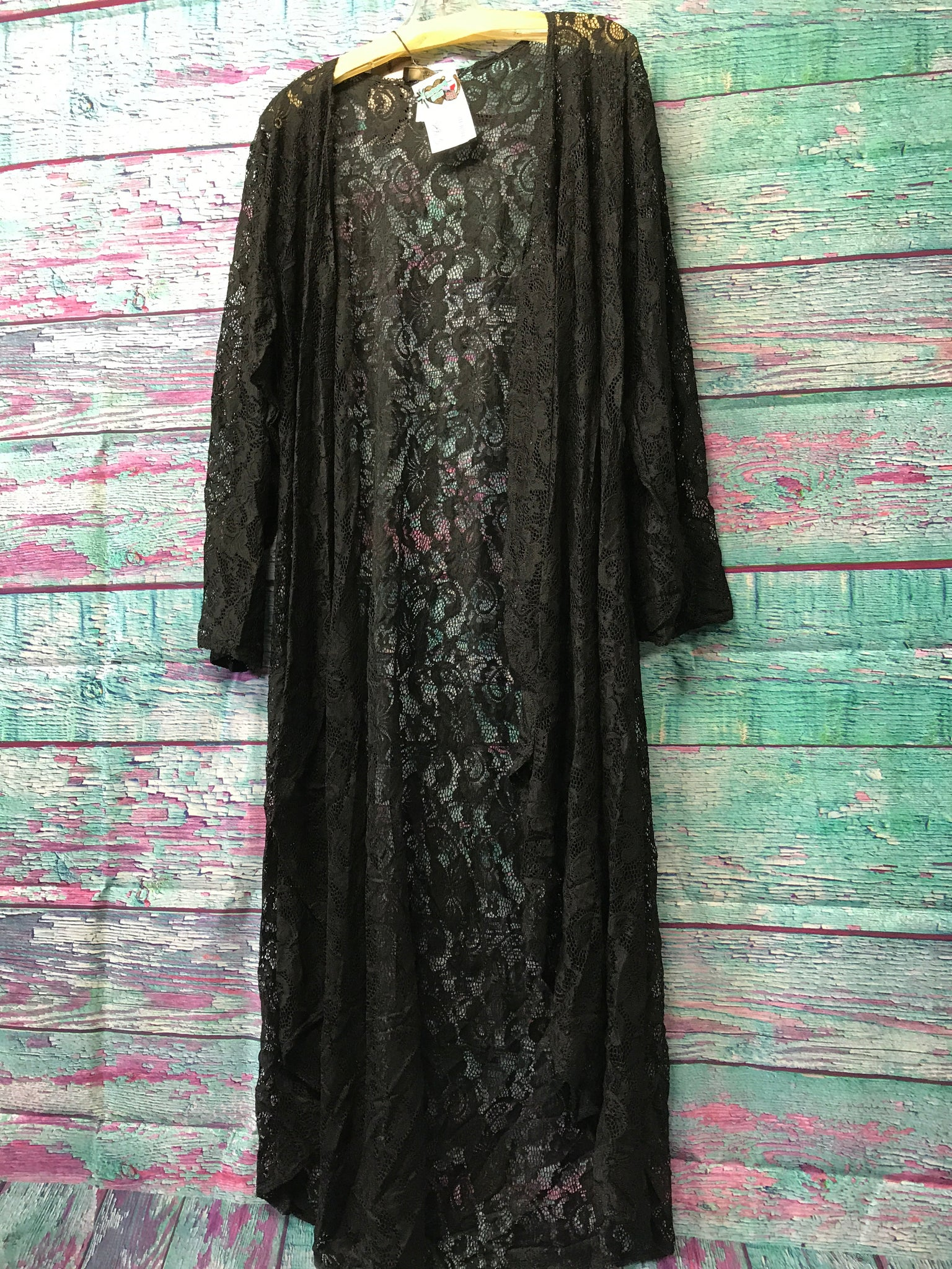 L&B Black Lace Duster