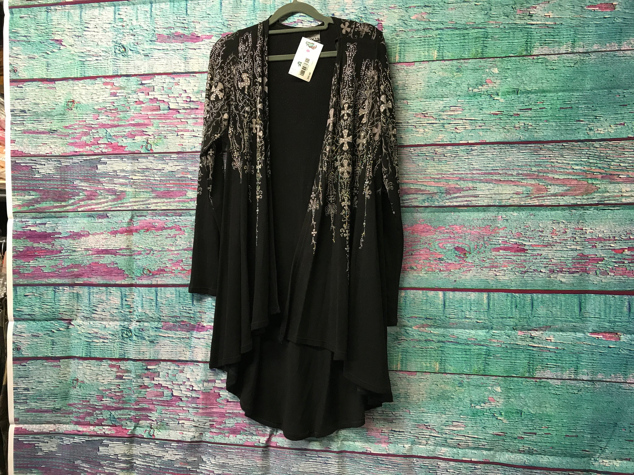 Vocal Black Cross Cardigan