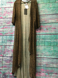 Dark Leopard Sheer Long Cardigan