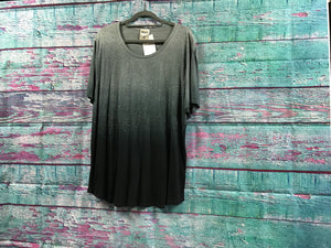 Vocal Black & Grey Ombre Top with Studs S/S