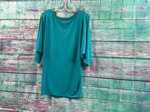L&B Teal Wide Sleeve Top