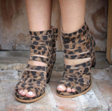Leopard Strappy Sandal Super high quality Very nice!