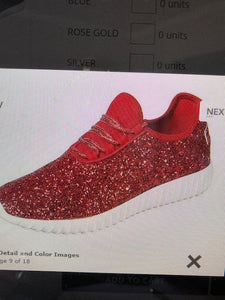 Red Sequin Sneaker