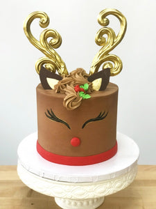 Reindeer Cake - Cakes, cookies & cupcakes,   - cupcakes, cakes, cookies, Georgie Porgie Cakes & Gifts - Georgie Porgie Cakes & Gifts