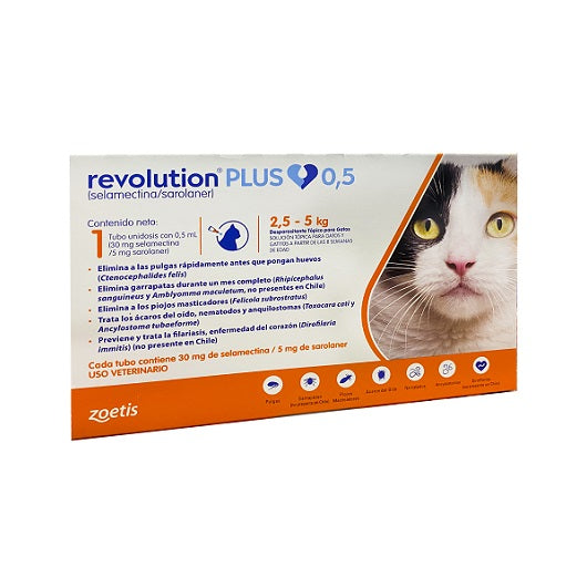 Revolution Plus Gato 2,5 a 5 kg