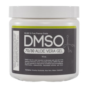 DMSO Dimethyl Sulfoxide Gel 70/30 Pharma Grade with Aloe Vera Super Biologic- 1 lb.