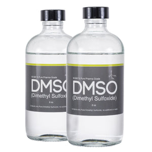 DMSO Dimethyl Sulfoxide 2 Glass 8 oz. Bottle Special 99.995% Pure Pharma Grade