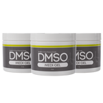 DMSO Dimethyl Sulfoxide Gel 3 Jar special of 4 oz. 99.995% Non Diluted, Low Odor Pharma Grade