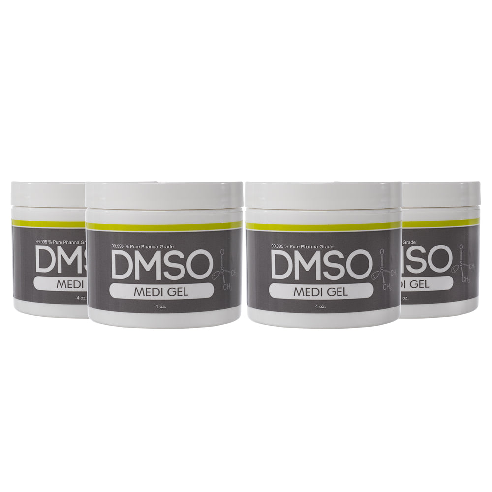 DMSO Dimethyl Sulfoxide Gel 4 Jar Special of 4 oz. 99.995% Non Diluted, Low Odor Pharma Grade