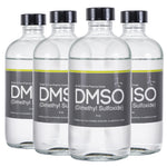 DMSO Dimethyl Sulfoxide 4 Glass 8 oz. Bottles Special 99.995% Pharma Grade Purity