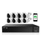 Usethatcam POE CCTV Security System - 8CH NVR Recorder and 8(4K) cameras + 2TB HDD