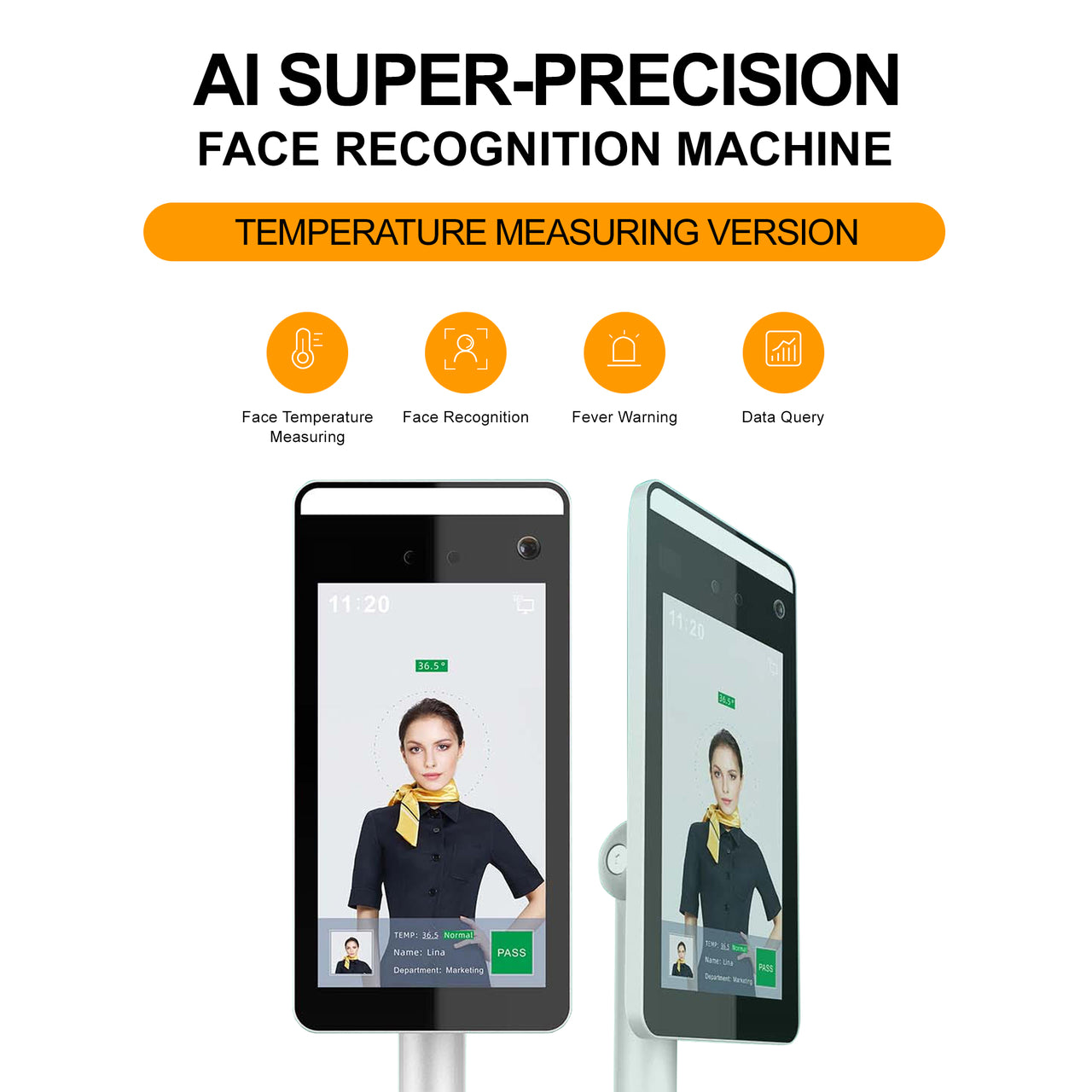 Touch-Free Temperature Reading Facial Recognition Kiosk
