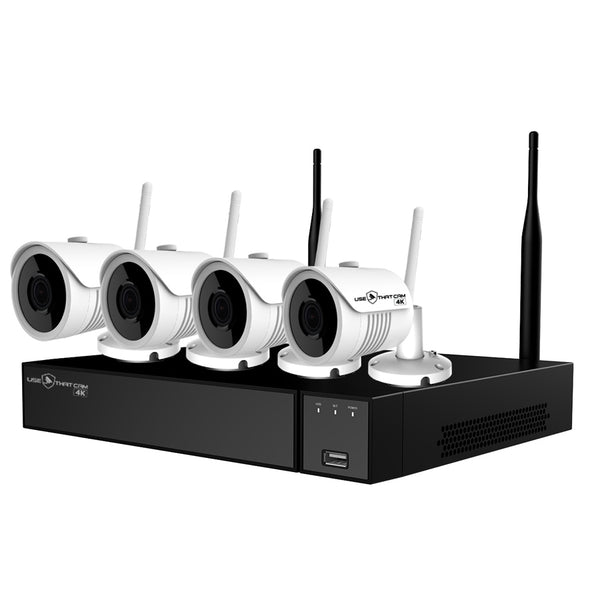 Usethatcam 4K Wireless CCTV System with 4Cameras 8MP - No HDD