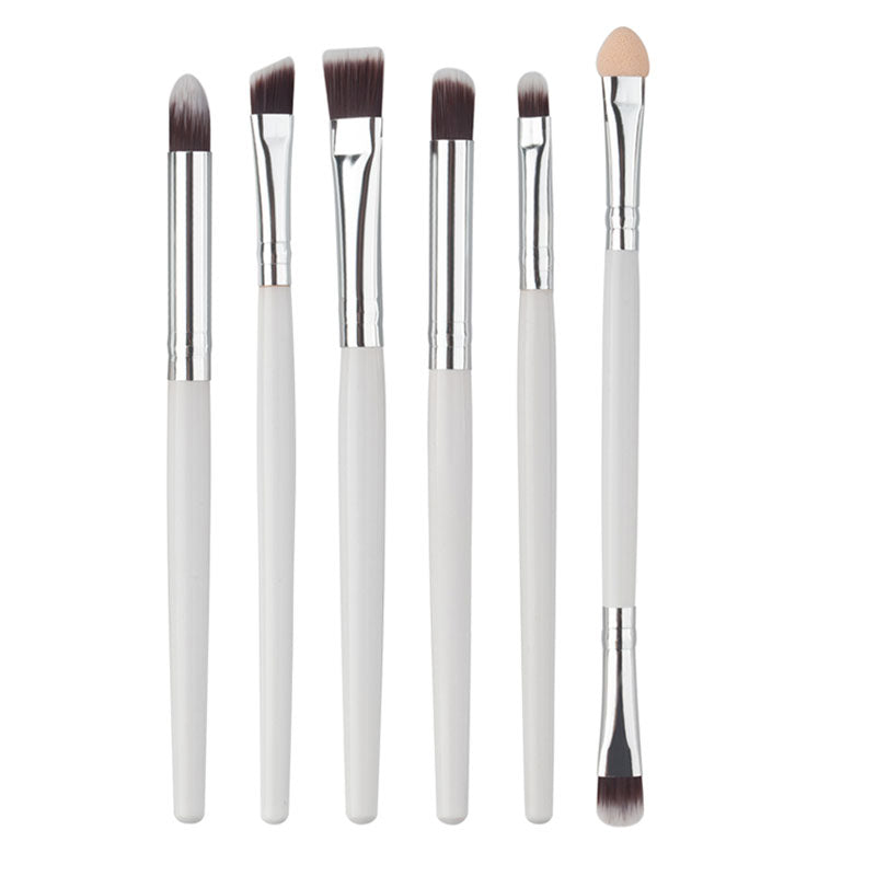 White Lip Brush 6 Piece Set