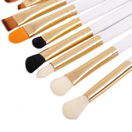 Synthetic 10 Piece Eye Brush Set