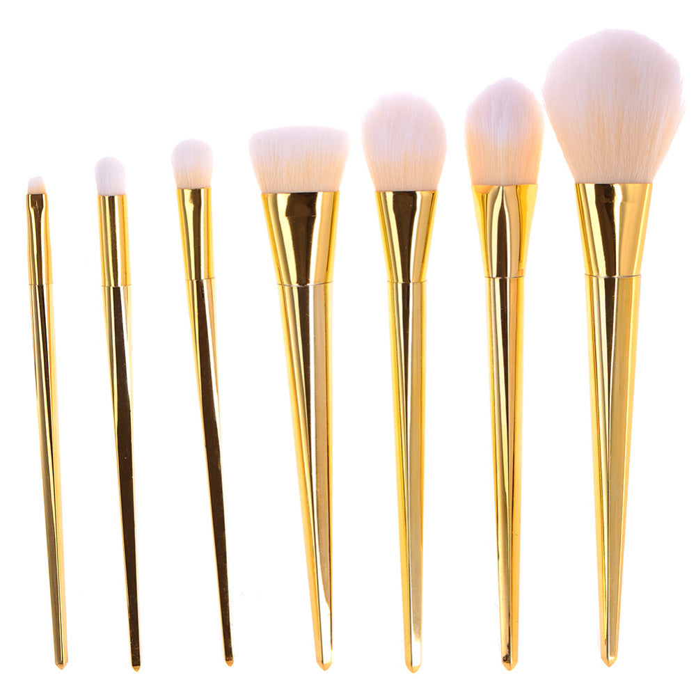 7 Piece Metallic Brush Set