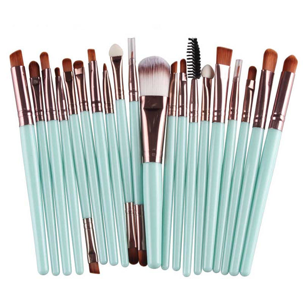 Baby Blue Professional Brush Set