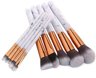 Marble 10 Piece Foundation and Eye Brush Set