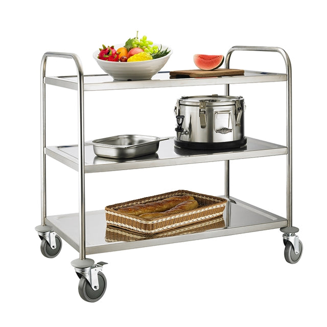 Service Trolley 3 Tier With Round Tube