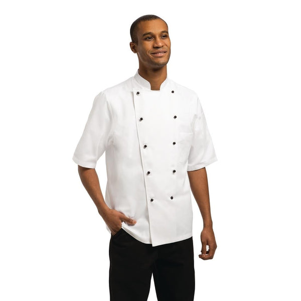 Chef Works Unisex Marche Chefs Jacket Short Sleeve XL - A374-XL
