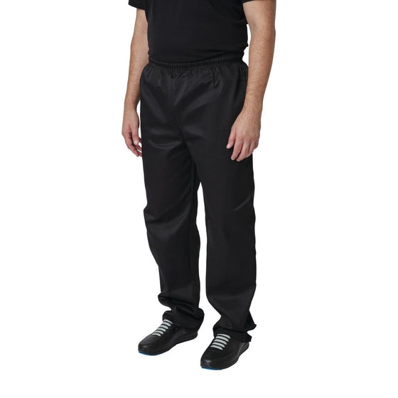 Whites Vegas Chef Trousers Polycotton Black - M - A582-M