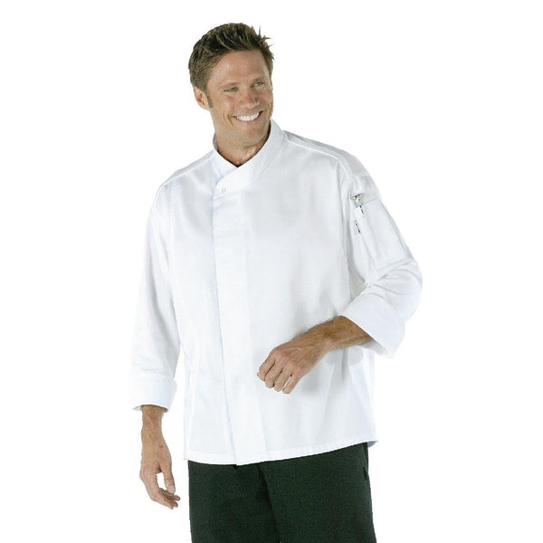 Chef Works Tours Cool Vent Unisex Chefs Jacket White M - A598-M