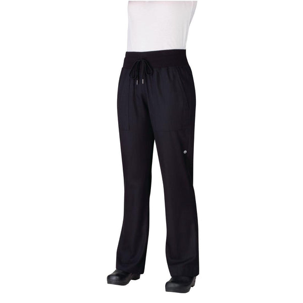 Chef Works Womens Comfi Chefs Trousers Black S - B785-S