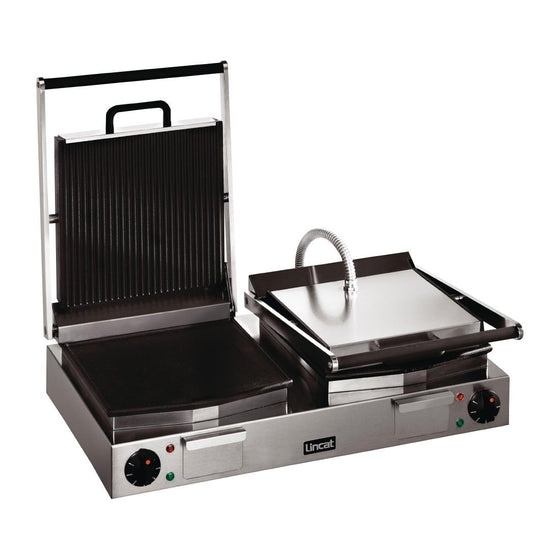 Lincat Lynx 400 Electric Twin Ribbed Grill LRG2 - CD426