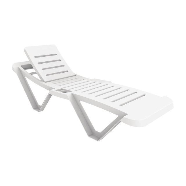 Resol Polypropylene Sun Loungers White (Pack of 2) - CG209