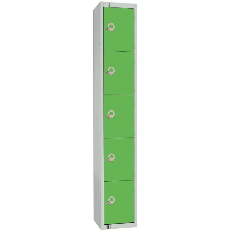 Elite Five Door Padlock Locker Green - CG614-P