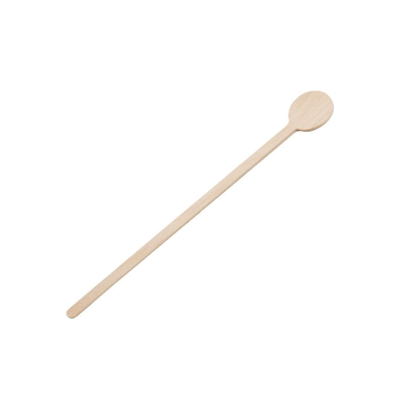 Fiesta Green Biodegradable Wooden Cocktail Stirrers 150mm (Pack of 100) - DB493