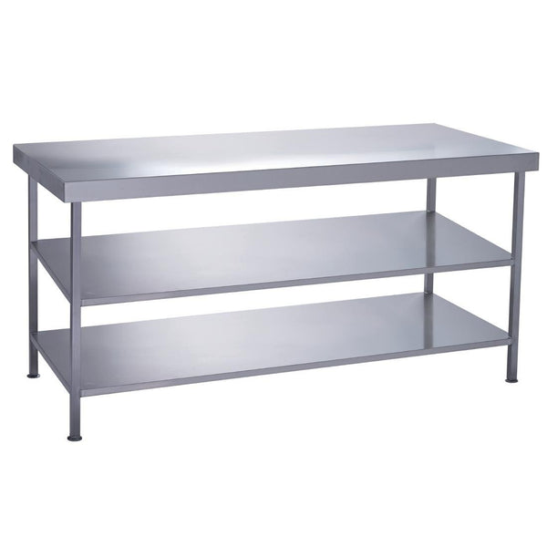 Parry Fully Welded Stainless Steel Centre Table 2 Undershelves 1200x600mm - DC611