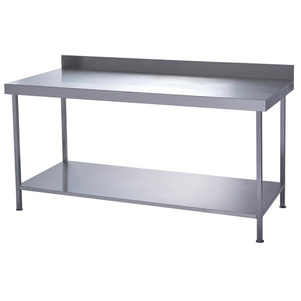 Parry Fully Welded Stainless Steel Wall Table with Undershelf 600x700mm - DC612
