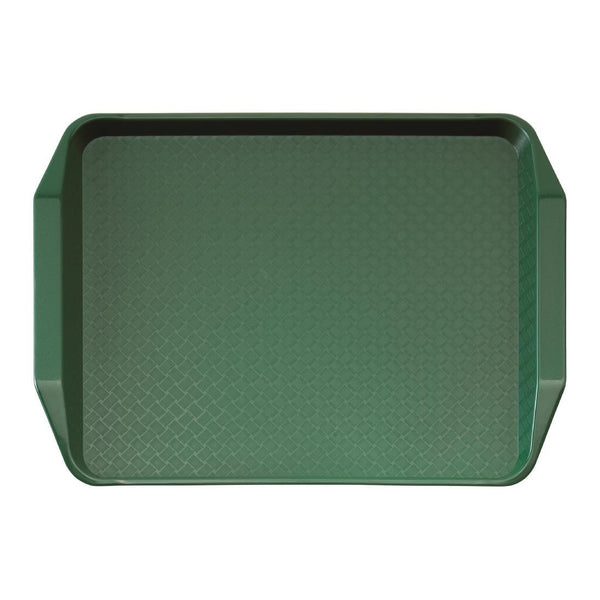 Cambro Polypropylene Handled Fast Food Tray Green 430mm - DE316