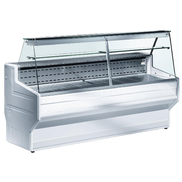 Zoin Hill Slimline Deli Serve Over Counter Chiller White 2500mm HL250B - DE820-250