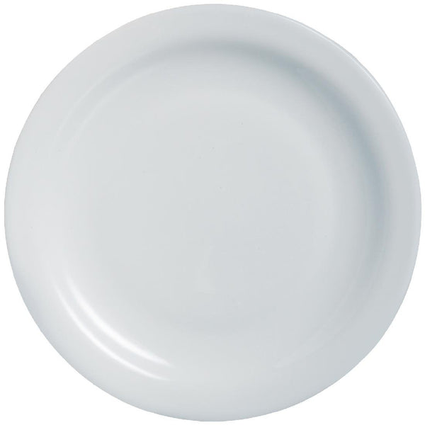 Arcoroc Opal Hoteliere Narrow Rim Plates 236mm (Pack of 6) - DP061