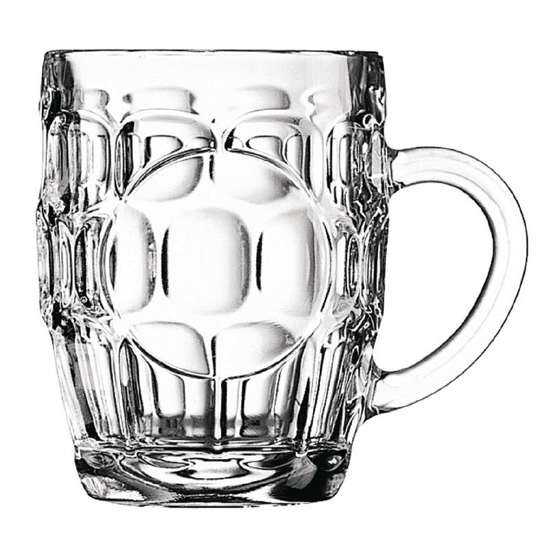 Arcoroc Britannia Dimple Half Pint Tankards 285ml CE Marked (Pack of 36) - DP085
