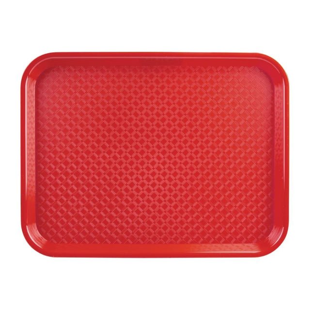 Kristallon Polypropylene Fast Food Tray Red Small 345mm - DP213