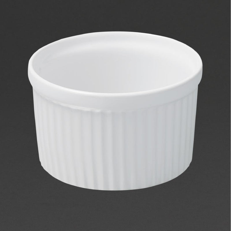 Revol French Classics Soufflé Moulds White 100mm (Pack of 6) - DT817
