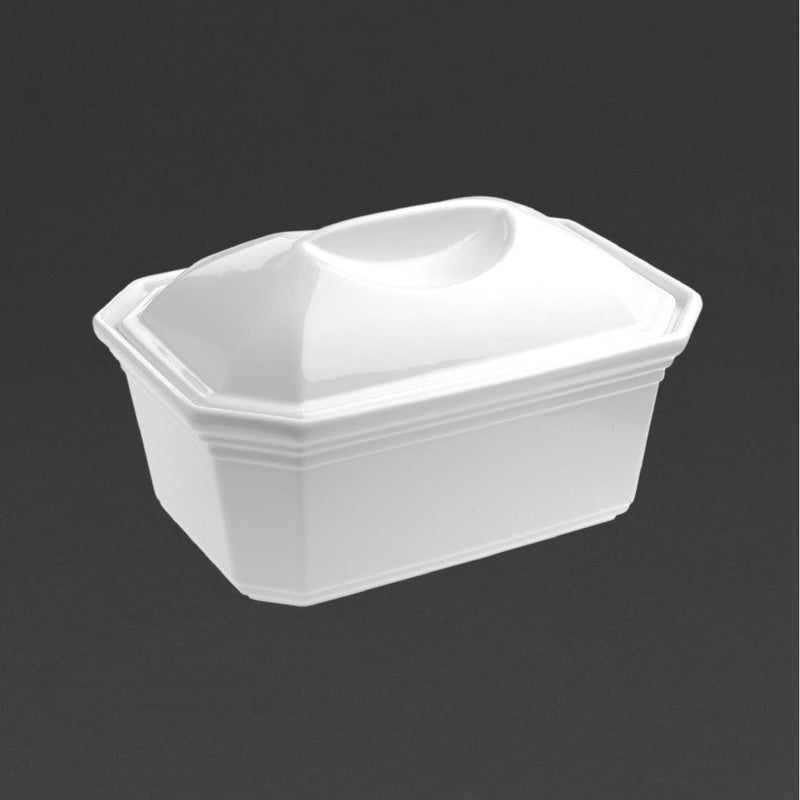 Revol French Classics Terrines With Lid White 195mm (Pack of 2) - DT871