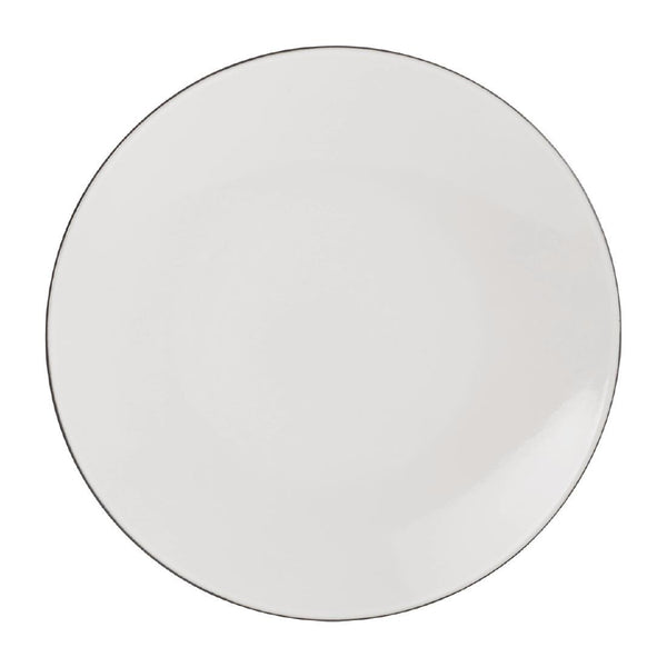Revol Equinoxe Dinner Plates White Cumulus 260mm (Pack of 6) - DT916