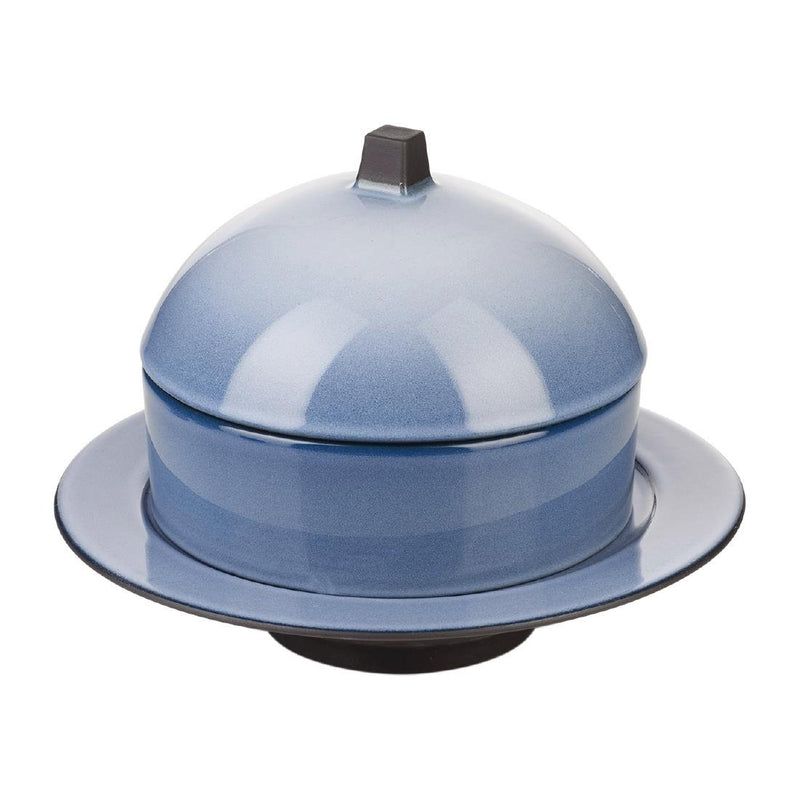 Revol Equinoxe Dim Sum Basket and Deep Plate Set Cirrus Blue - DT965