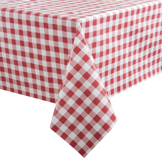PVC Chequered Tablecloth Red 54 x 70in - E794