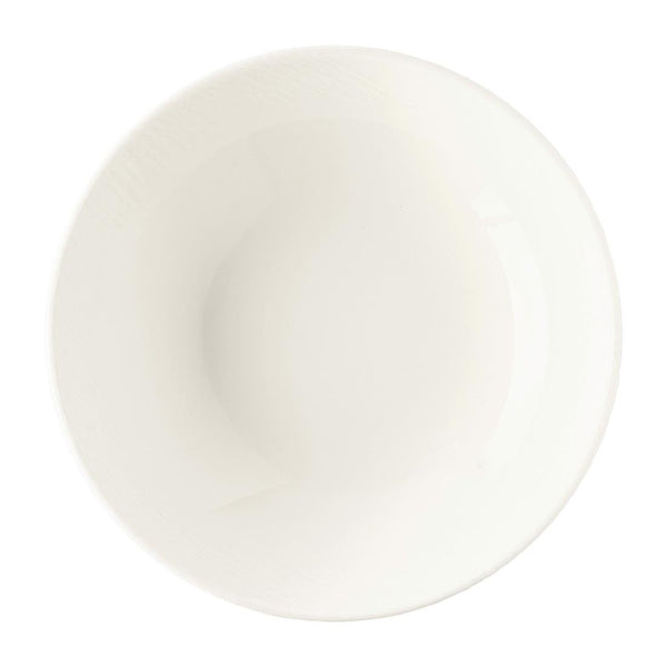 Royal Crown Derby Bark White Coupe Bowl 165mm (Pack of 6) - FE046