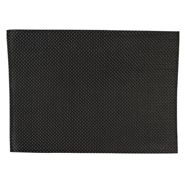 APS PVC Placemat Black (Pack of 6) - GJ992