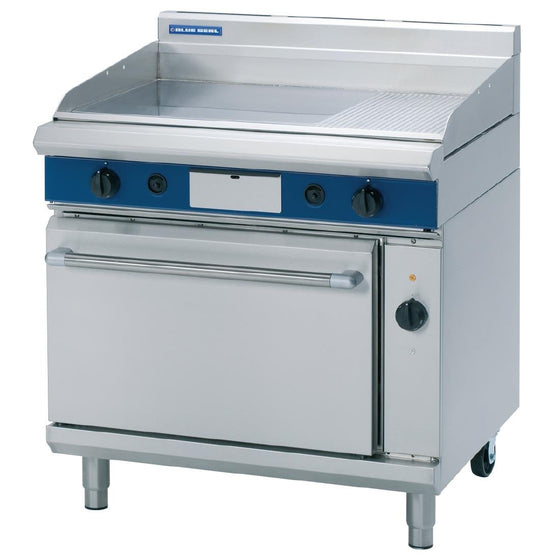 Blue Seal Evolution Nat Gas 1/3 Ribbed Griddle Electric Convection Oven 900mm GPE56/N - GK549-N