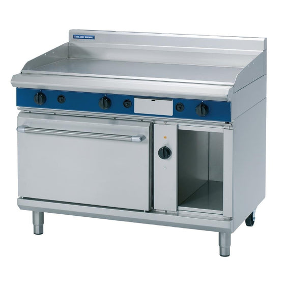 Blue Seal Evolution Nat Gas Chrome Griddle Electric Convection Oven 1200mm GPE58/N - GK561-N