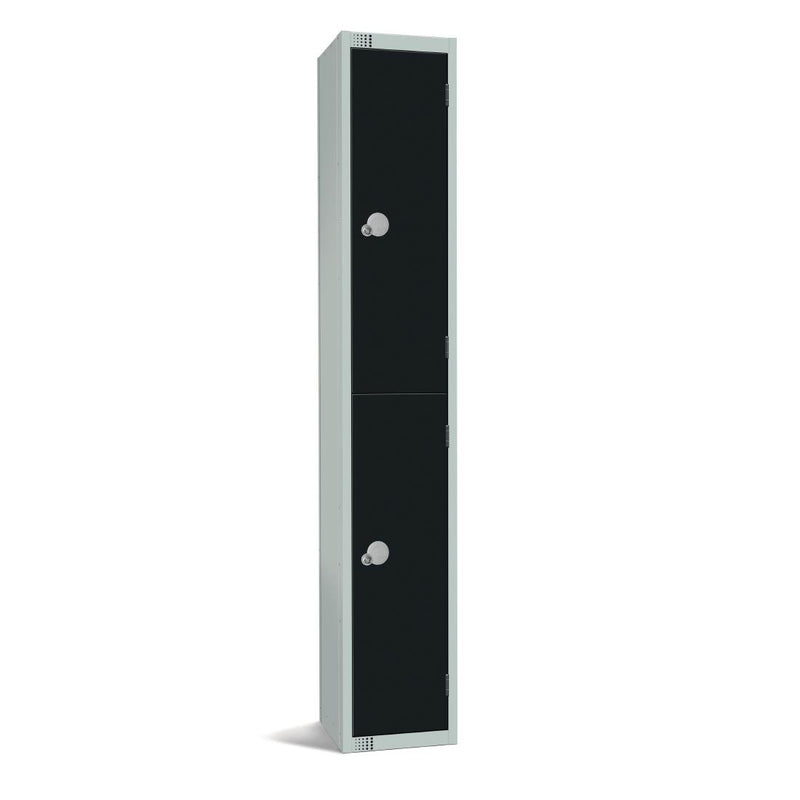 Elite Double Door Coin Return Locker Graphite Black - GR671-CN